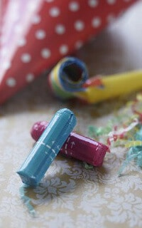 Разноцветные тампоны